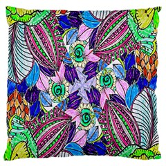 Wallpaper Created From Coloring Book Large Flano Cushion Case (one Side)