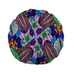 Wallpaper Created From Coloring Book Standard 15  Premium Flano Round Cushions