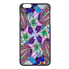 Wallpaper Created From Coloring Book Apple Iphone 6 Plus/6s Plus Black Enamel Case