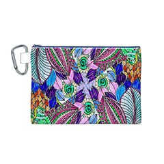Wallpaper Created From Coloring Book Canvas Cosmetic Bag (m)