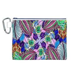 Wallpaper Created From Coloring Book Canvas Cosmetic Bag (L)