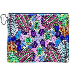 Wallpaper Created From Coloring Book Canvas Cosmetic Bag (XXXL)