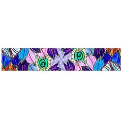Wallpaper Created From Coloring Book Flano Scarf (large)