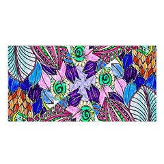 Wallpaper Created From Coloring Book Satin Shawl
