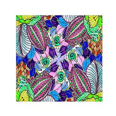 Wallpaper Created From Coloring Book Small Satin Scarf (square)