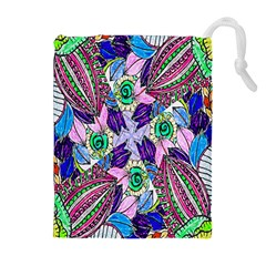 Wallpaper Created From Coloring Book Drawstring Pouches (extra Large)