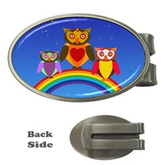 Owls Rainbow Animals Birds Nature Money Clips (oval)