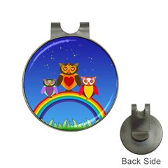 Owls Rainbow Animals Birds Nature Hat Clips with Golf Markers