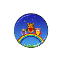 Owls Rainbow Animals Birds Nature Hat Clip Ball Marker (4 Pack)