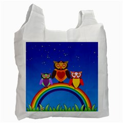 Owls Rainbow Animals Birds Nature Recycle Bag (two Side)