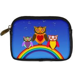 Owls Rainbow Animals Birds Nature Digital Camera Cases