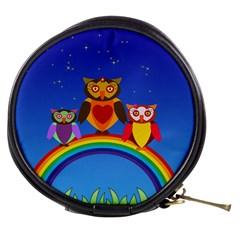 Owls Rainbow Animals Birds Nature Mini Makeup Bags
