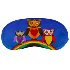 Owls Rainbow Animals Birds Nature Sleeping Masks
