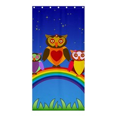 Owls Rainbow Animals Birds Nature Shower Curtain 36  x 72  (Stall)