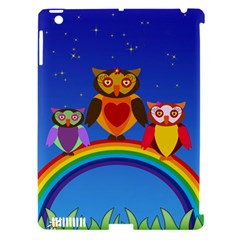 Owls Rainbow Animals Birds Nature Apple Ipad 3/4 Hardshell Case (compatible With Smart Cover)