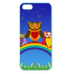 Owls Rainbow Animals Birds Nature Apple Seamless iPhone 5 Case (Color)