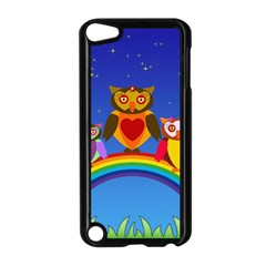 Owls Rainbow Animals Birds Nature Apple Ipod Touch 5 Case (black)