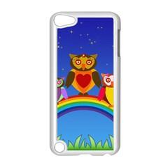 Owls Rainbow Animals Birds Nature Apple Ipod Touch 5 Case (white)