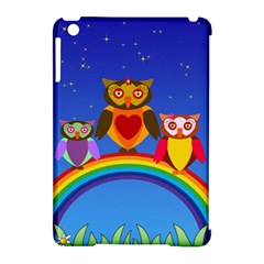 Owls Rainbow Animals Birds Nature Apple Ipad Mini Hardshell Case (compatible With Smart Cover)