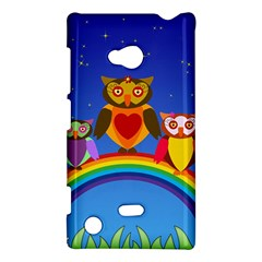 Owls Rainbow Animals Birds Nature Nokia Lumia 720