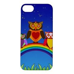Owls Rainbow Animals Birds Nature Apple Iphone 5s/ Se Hardshell Case