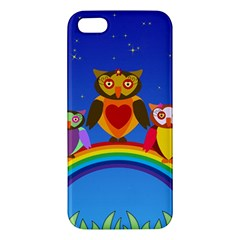 Owls Rainbow Animals Birds Nature Iphone 5s/ Se Premium Hardshell Case
