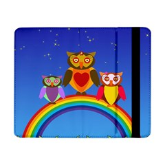 Owls Rainbow Animals Birds Nature Samsung Galaxy Tab Pro 8 4  Flip Case