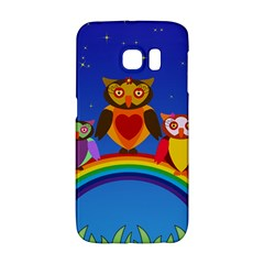 Owls Rainbow Animals Birds Nature Galaxy S6 Edge