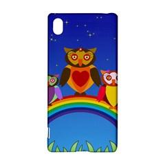 Owls Rainbow Animals Birds Nature Sony Xperia Z3+