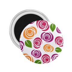 Colorful Seamless Floral Flowers Pattern Wallpaper Background 2.25  Magnets