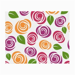 Colorful Seamless Floral Flowers Pattern Wallpaper Background Small Glasses Cloth