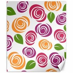 Colorful Seamless Floral Flowers Pattern Wallpaper Background Canvas 8  X 10