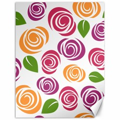 Colorful Seamless Floral Flowers Pattern Wallpaper Background Canvas 12  X 16