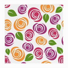 Colorful Seamless Floral Flowers Pattern Wallpaper Background Medium Glasses Cloth (2 Side)