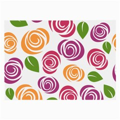 Colorful Seamless Floral Flowers Pattern Wallpaper Background Large Glasses Cloth (2 Side)