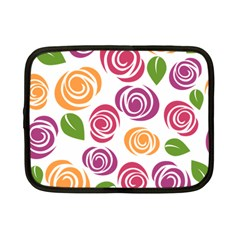 Colorful Seamless Floral Flowers Pattern Wallpaper Background Netbook Case (small)