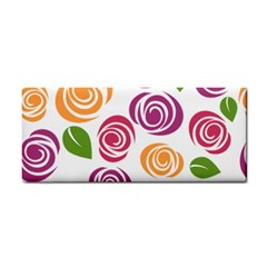 Colorful Seamless Floral Flowers Pattern Wallpaper Background Cosmetic Storage Cases