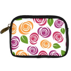 Colorful Seamless Floral Flowers Pattern Wallpaper Background Digital Camera Cases