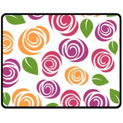Colorful Seamless Floral Flowers Pattern Wallpaper Background Fleece Blanket (medium)