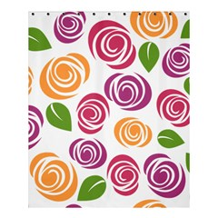 Colorful Seamless Floral Flowers Pattern Wallpaper Background Shower Curtain 60  X 72  (medium)