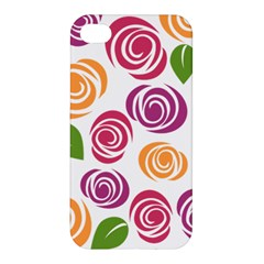 Colorful Seamless Floral Flowers Pattern Wallpaper Background Apple Iphone 4/4s Premium Hardshell Case