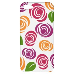 Colorful Seamless Floral Flowers Pattern Wallpaper Background Apple Iphone 5 Hardshell Case