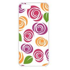 Colorful Seamless Floral Flowers Pattern Wallpaper Background Apple Iphone 5 Seamless Case (white)