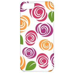 Colorful Seamless Floral Flowers Pattern Wallpaper Background Apple Iphone 5 Classic Hardshell Case