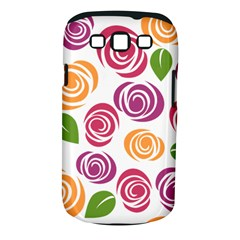 Colorful Seamless Floral Flowers Pattern Wallpaper Background Samsung Galaxy S Iii Classic Hardshell Case (pc+silicone)