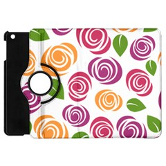 Colorful Seamless Floral Flowers Pattern Wallpaper Background Apple Ipad Mini Flip 360 Case