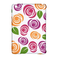 Colorful Seamless Floral Flowers Pattern Wallpaper Background Apple iPad Mini Hardshell Case (Compatible with Smart Cover)