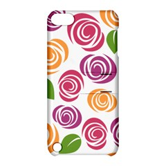 Colorful Seamless Floral Flowers Pattern Wallpaper Background Apple iPod Touch 5 Hardshell Case with Stand