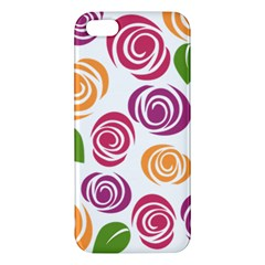 Colorful Seamless Floral Flowers Pattern Wallpaper Background Apple Iphone 5 Premium Hardshell Case