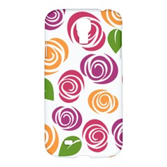 Colorful Seamless Floral Flowers Pattern Wallpaper Background Samsung Galaxy S4 I9500/i9505 Hardshell Case